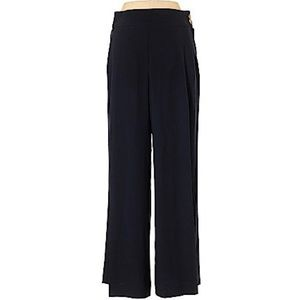 ESCADA Black Wide Legged Pants with Gold Buttons